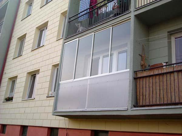 Fotogalerie zasklení balkonů alodžií od České skleníky Hladík