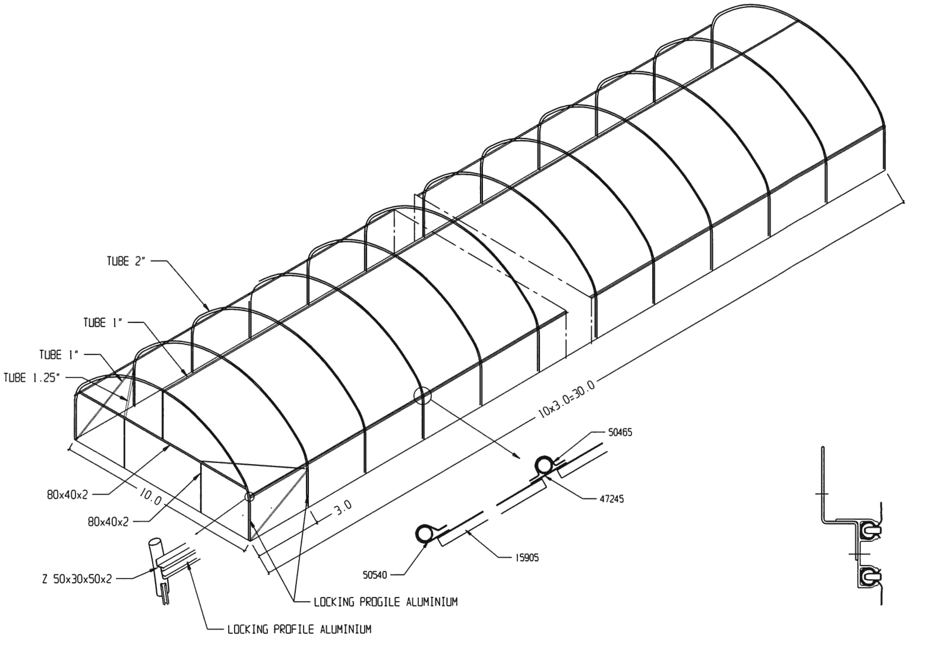 profi skleník 5 × 6 m