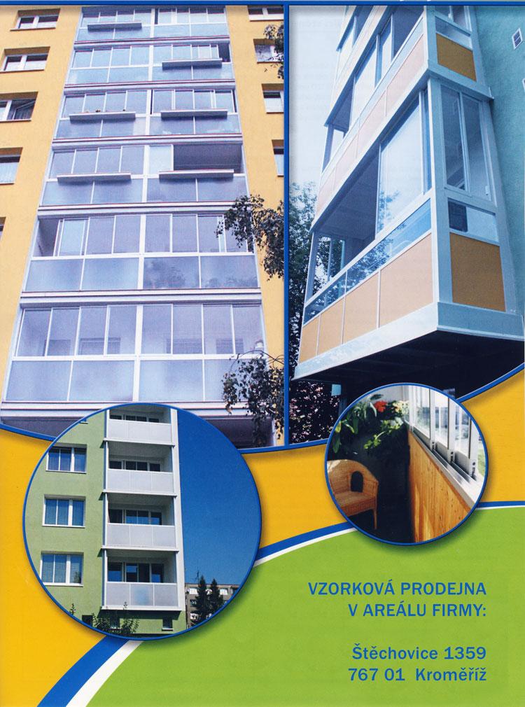 Zasklení balkonů - rámový systém